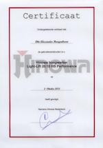 Hinowa hoogwerker Light-Lift Certificaat