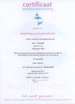 Certificaat bedrijfshulpverlening (BHV)